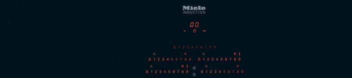 Plan de cuisson en vitrocéramique à induction Miele - KM 6350 LightPrint